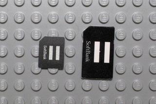 標準SIMとマイクロSIM