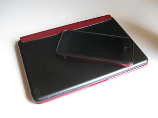 パワーサポート フラットバンパーセット for iPhone 5(メタリックレッド) PJK-64