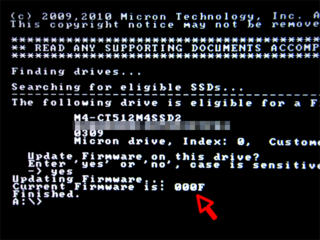CT512M4SSD2のファームウェアをアップデート