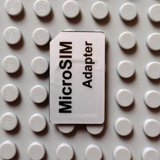 microSIM→SIMアダプター