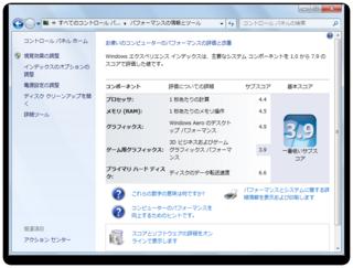 MacBook Pro(Mid 2009/2.26GHz)にインストールしたParallesでWindows 7を動かしたときのスコア