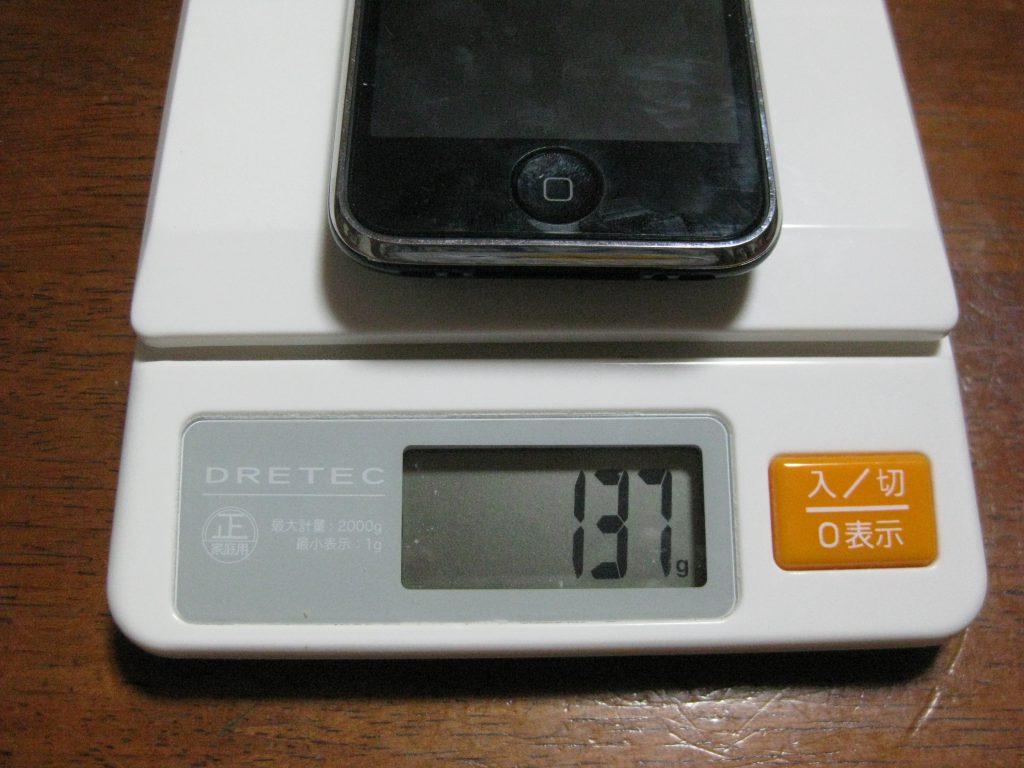 iPhone 3Gは137g