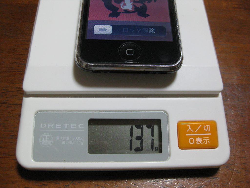 iPhone 3GSは、137g