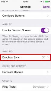 GBA4iOSのDropbox Sync