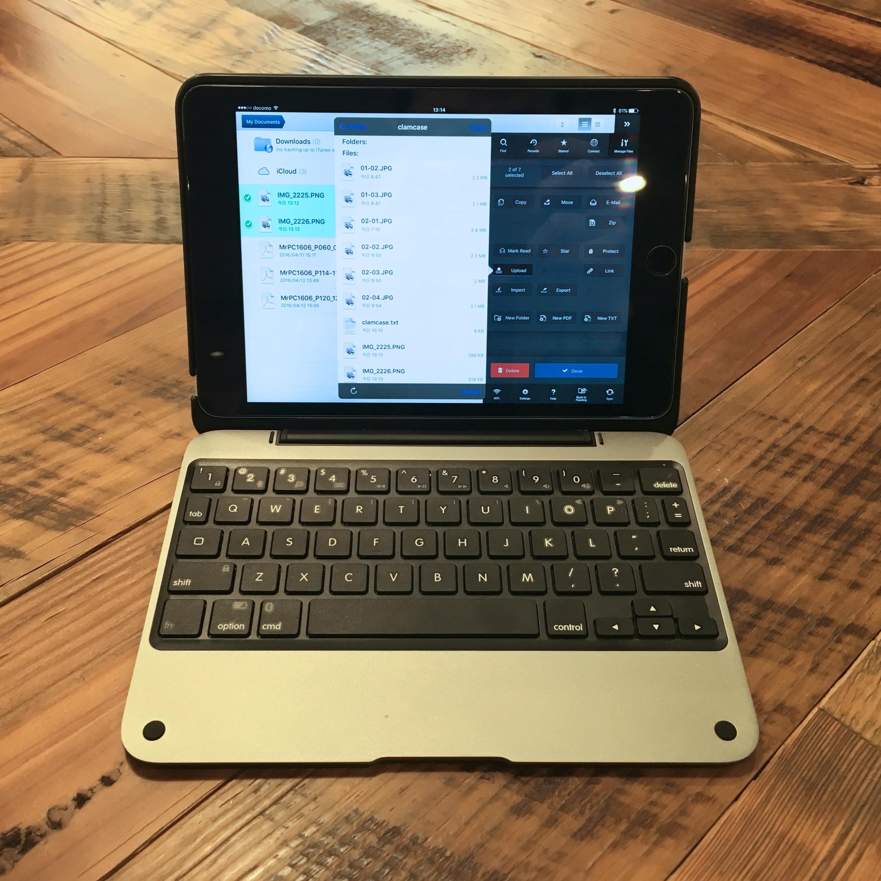 ClamCase Pro for iPad mini 4 with iPad mini4