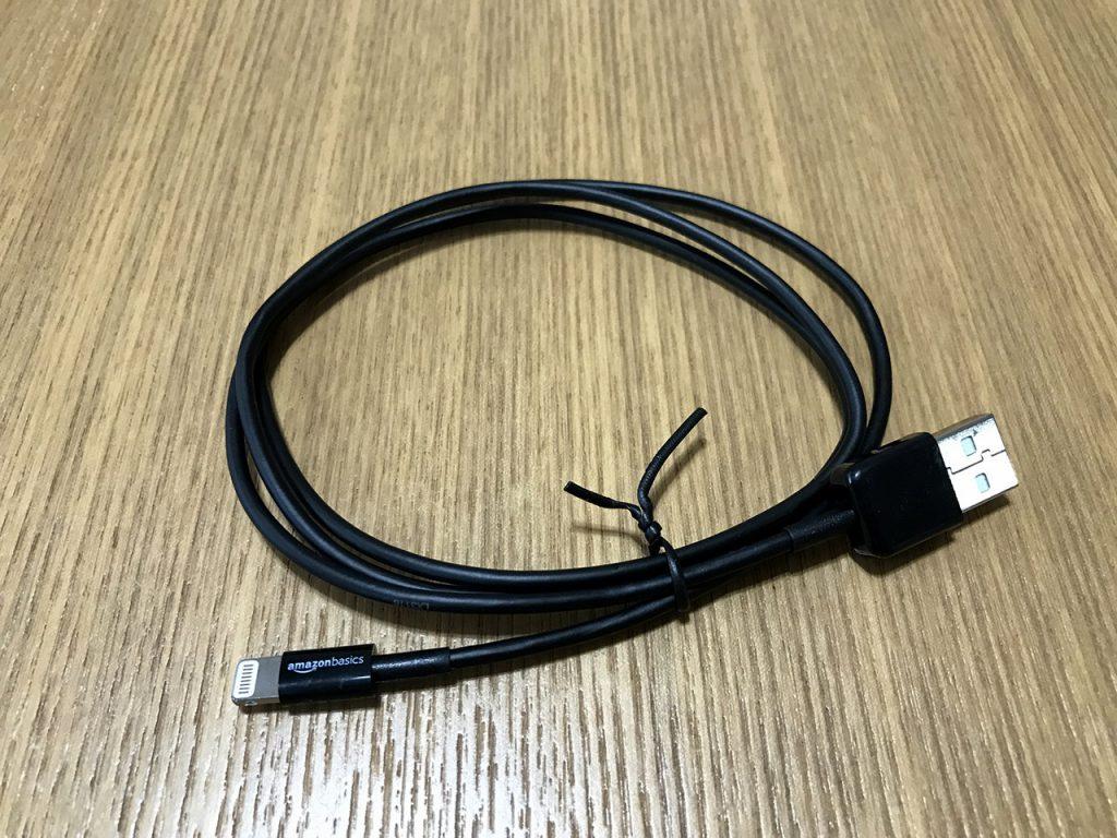 Amazonベーシック Apple認証 ハイクオリティー ライトニングUSB充電ケーブル 小型ヘッド設計 ブラック 約90cm