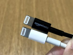 Amazon版Lightningケーブルと純正の比較