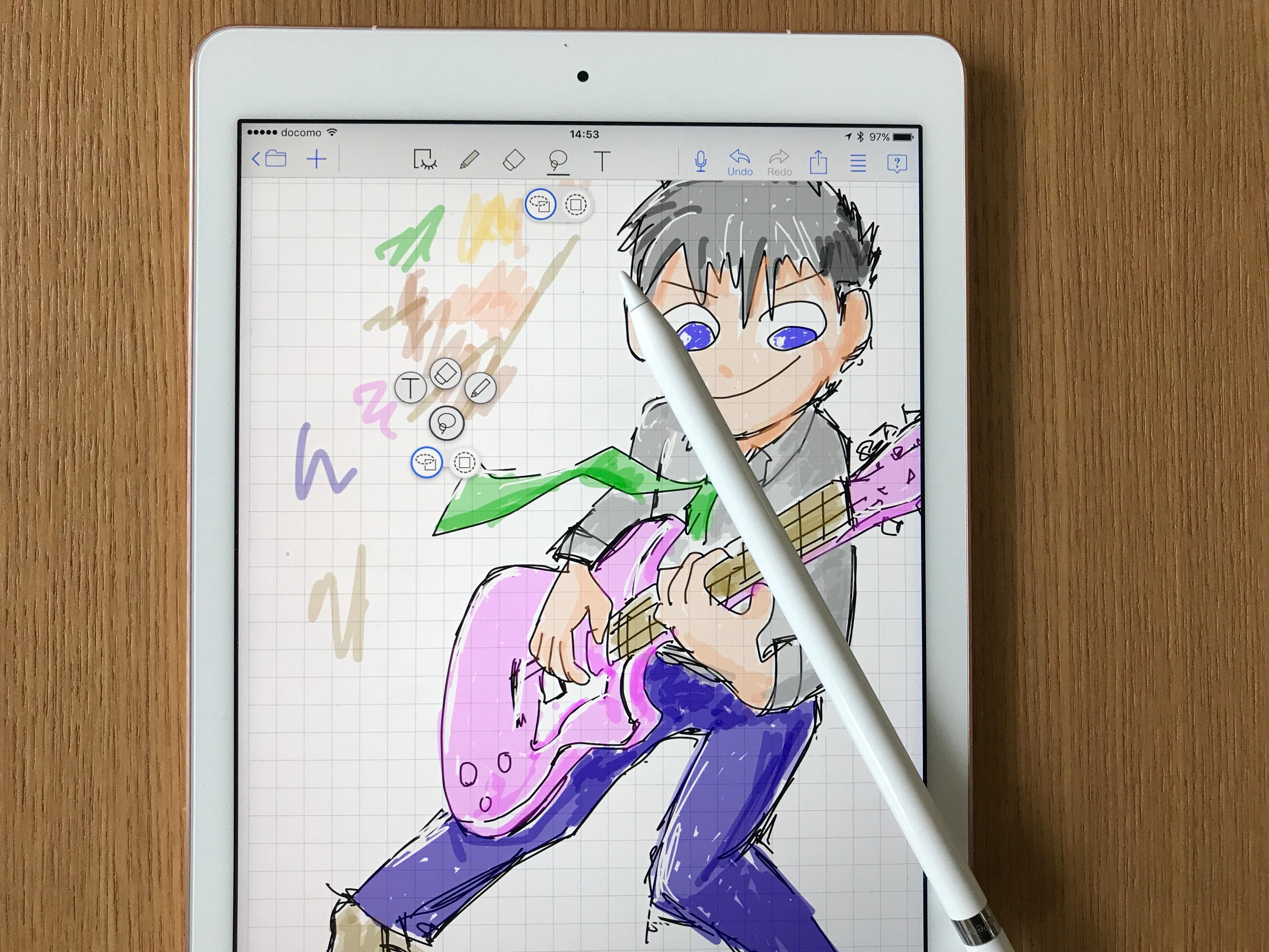 MetaMoji NoteとApple Pencilで描きました