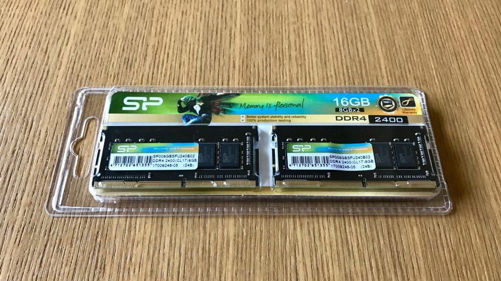 シリコンパワー ノートPC用メモリ DDR4-2400(PC4-19200) 8GB×2枚 260Pin 1.2V CL17 永久保証 SP016GBSFU240B22
