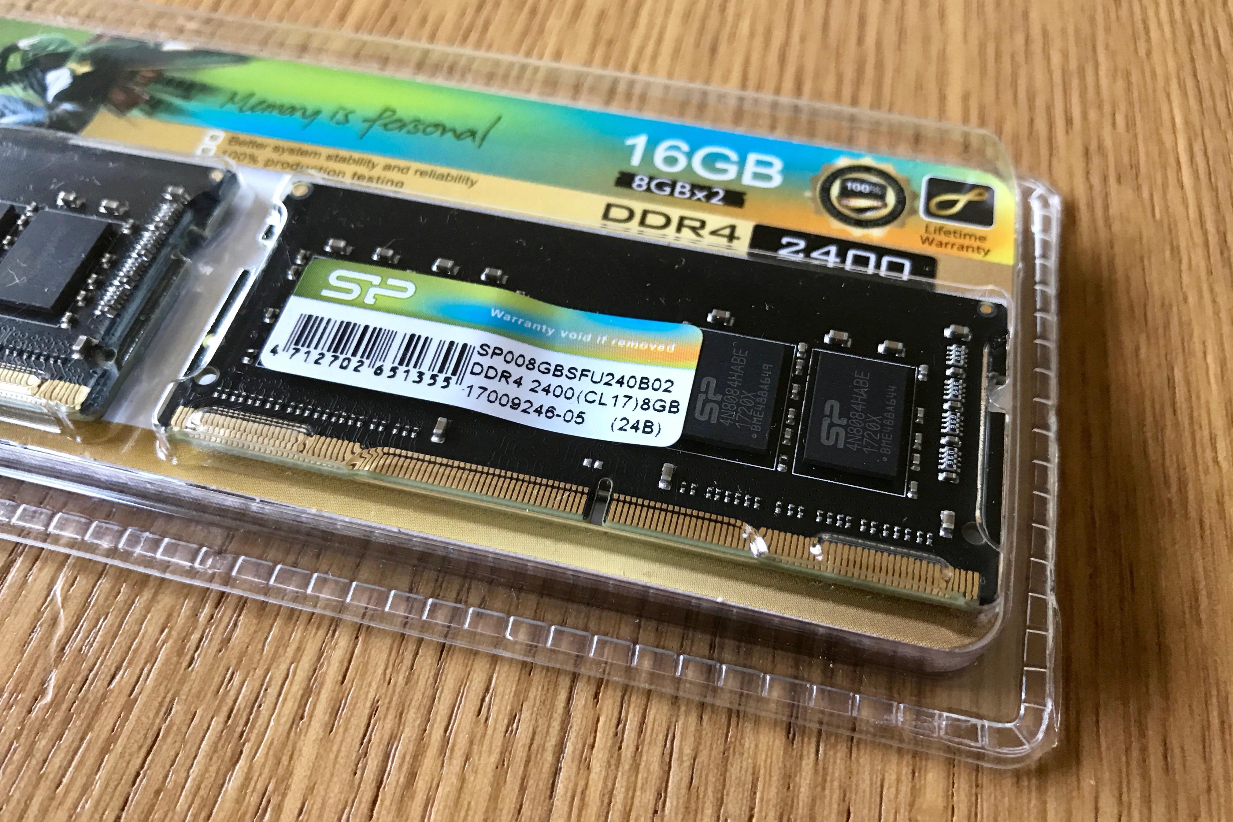 シリコンパワー ノートPC用メモリ DDR4-2400(PC4-19200) 8GB×2枚 260Pin 1.2V CL17