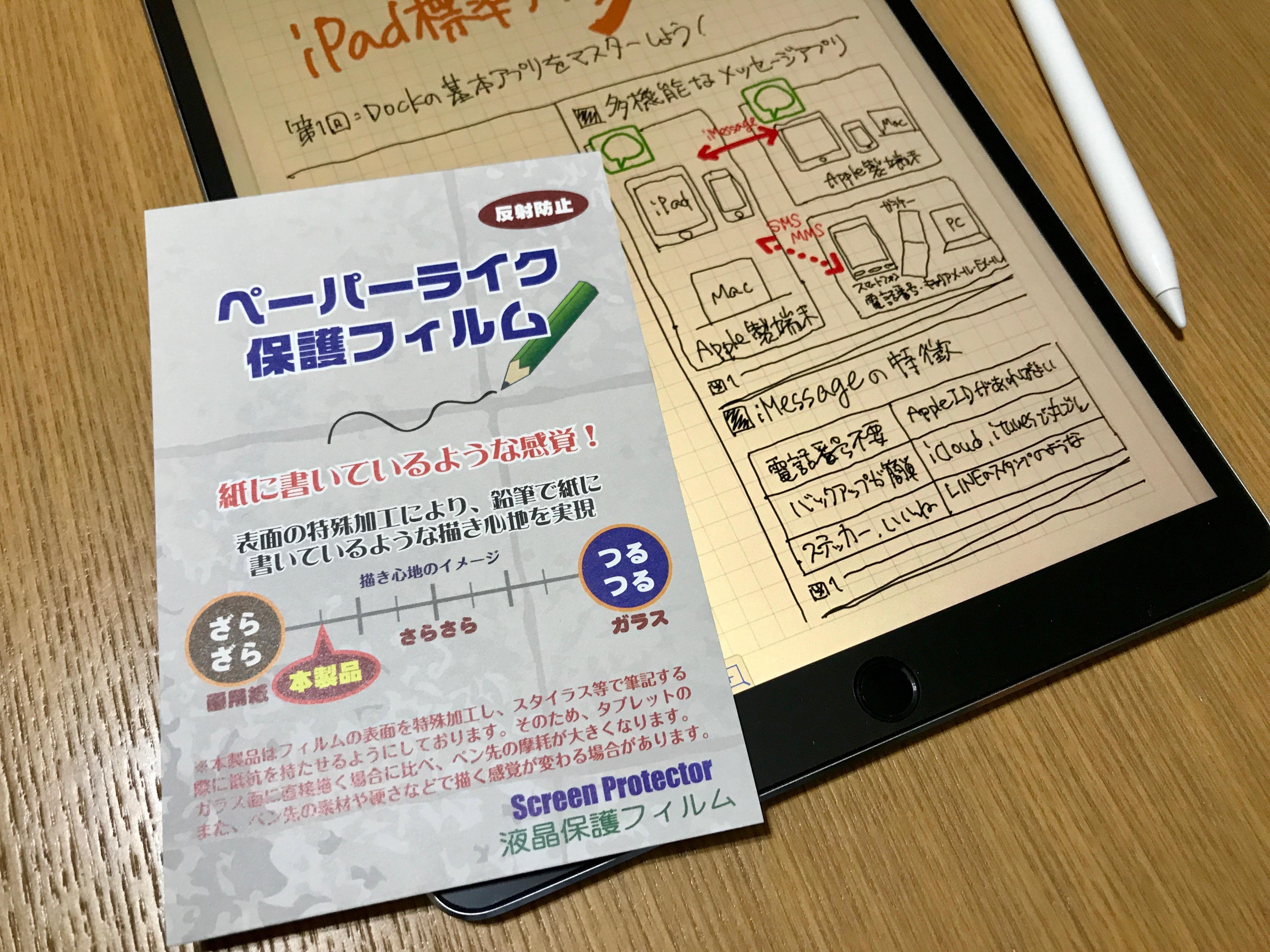 10.5インチiPad Pro用ペーパーライク保護フィルム
