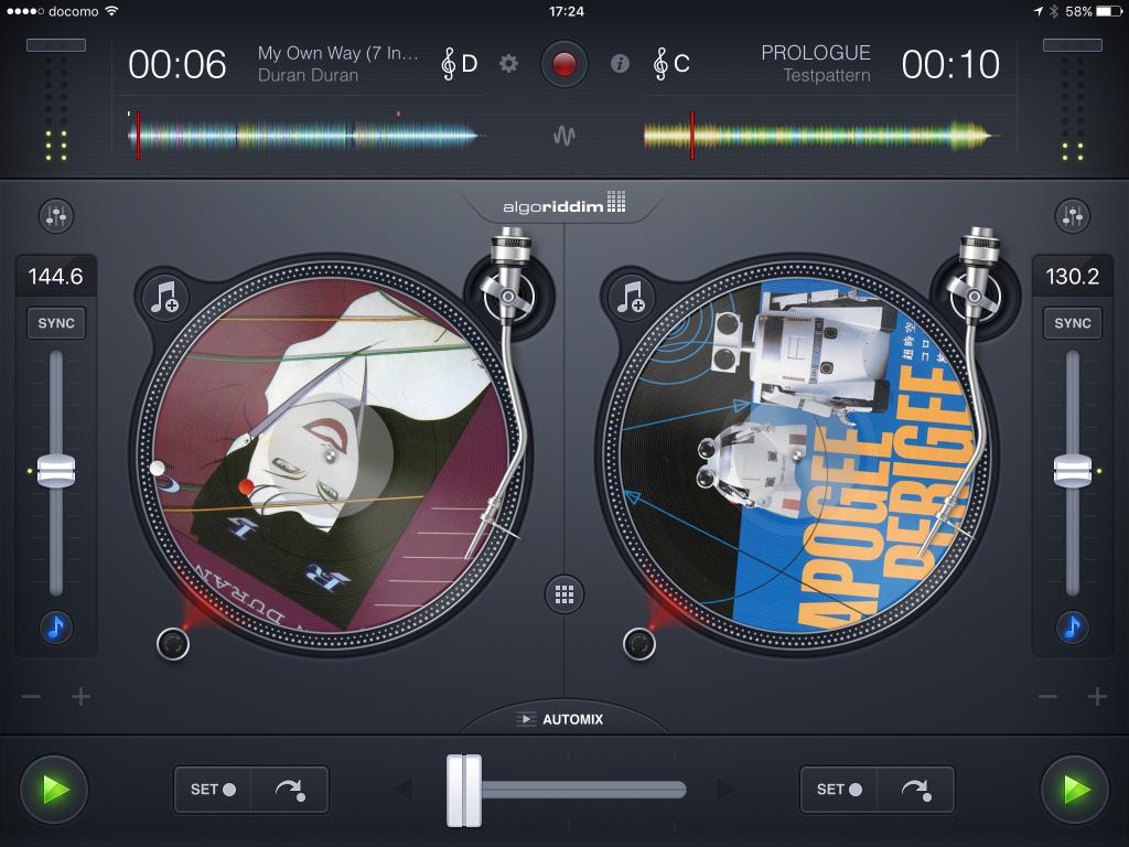 iPad用のDJアプリ「djay 2」