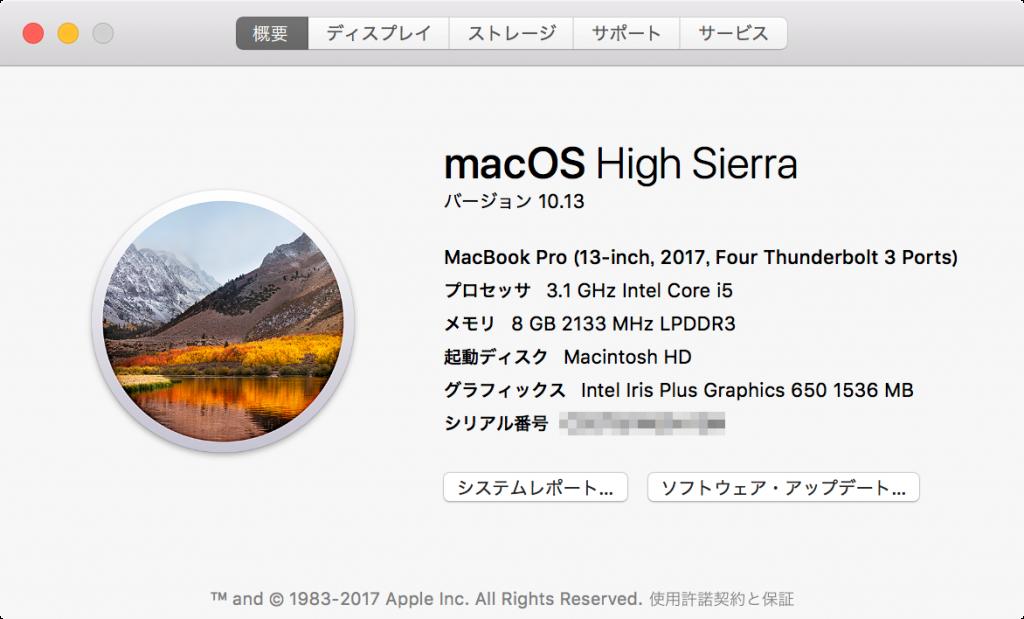 MacBook Pro 13 inch, 2017